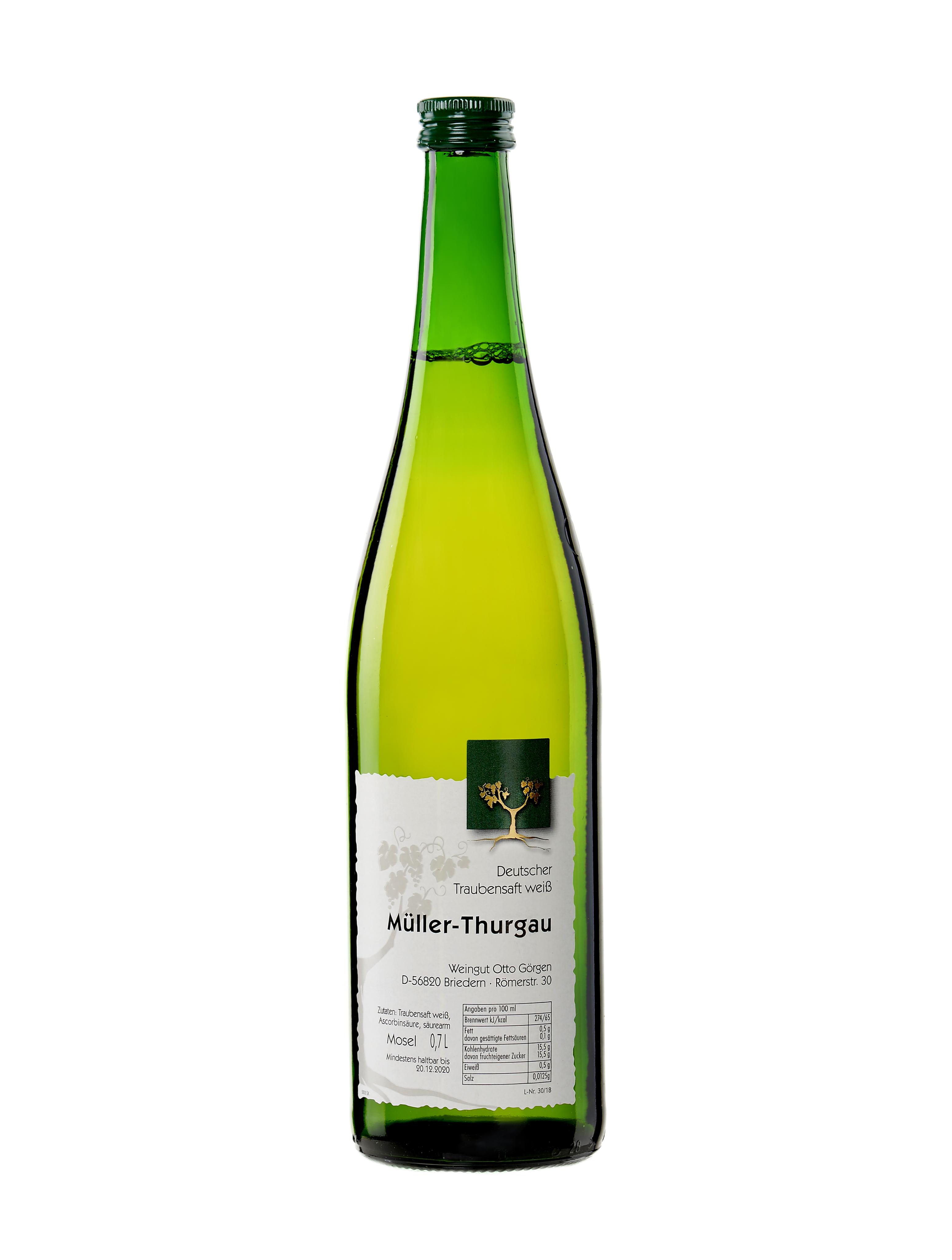 Müller Thurgau – weißer Traubensaft