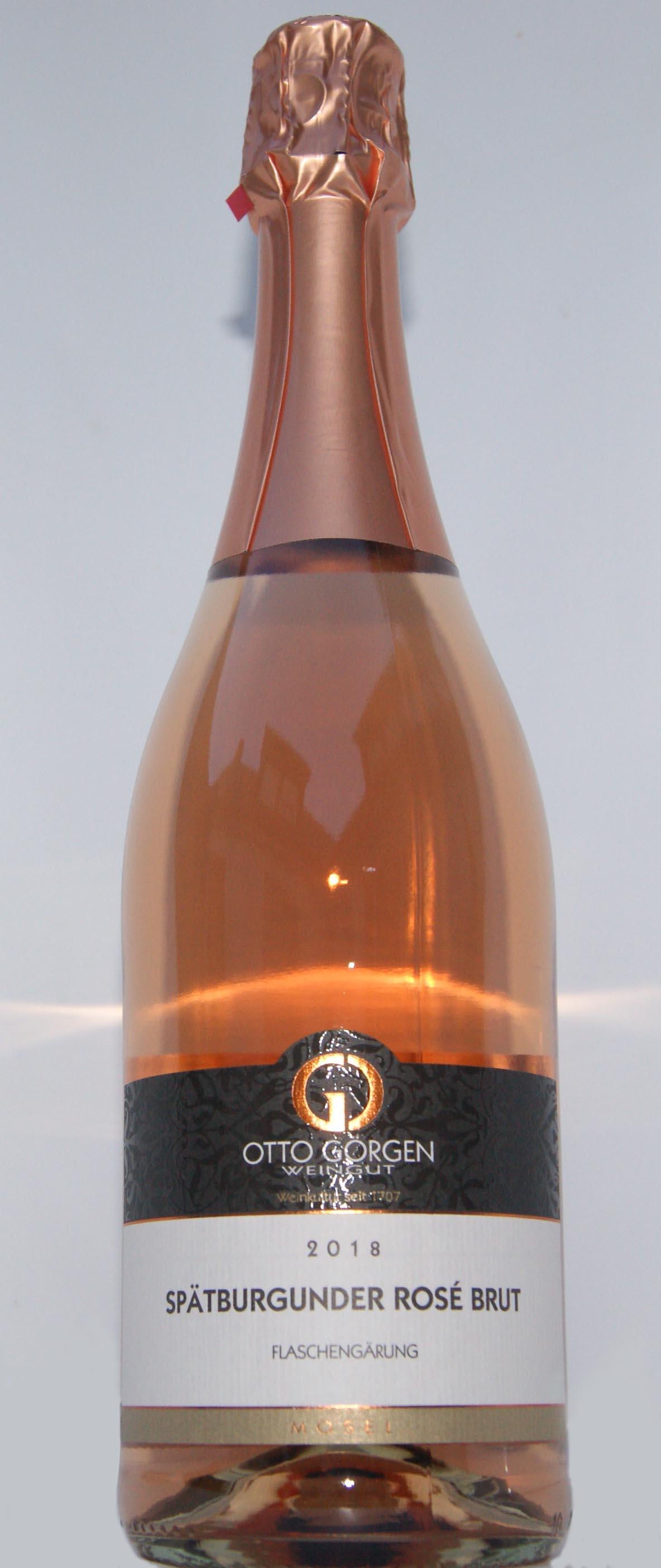 Spätburgunder Rosé Sekt brut  Flaschengärung 2018